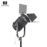 100 W LEVOU Fresnel Focusable Holofotes Regulável com 2.4G Sem Fio DMX512 Escurecimento Controle