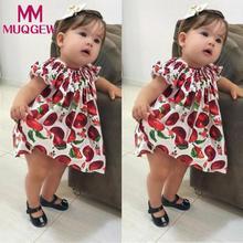 MUQGEW Baby lace dress girls summer 2018 Apple dress Toddler Baby Gilrs Ruched Lace Print Dress Sleeveless Mini Sundress Outfit