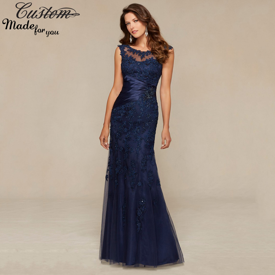 2016 Lace Mermaid Mother Of The Bride Dresses Groom: Vestidos Social Formal Party Evening Dress Tulle Crystals