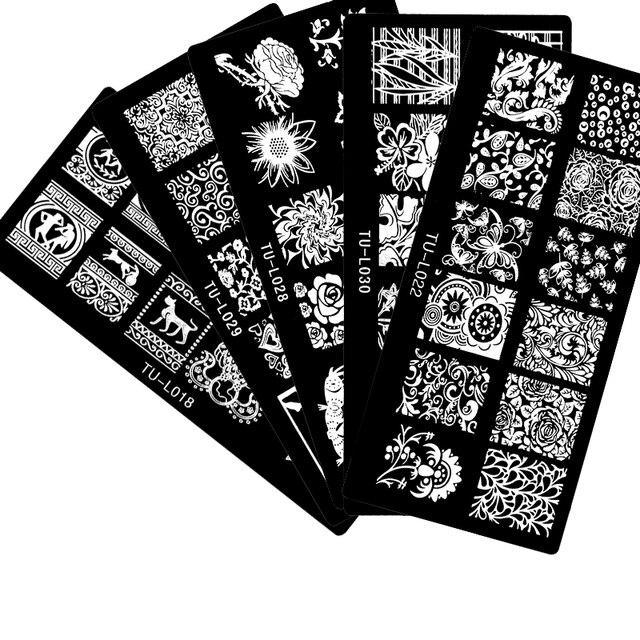 2017 New Arrivals 30PCS/LOT 12x6cm Nail Stamping Plates Konad Stamping Nail Art Manicure Template Nail Hot stamping plates