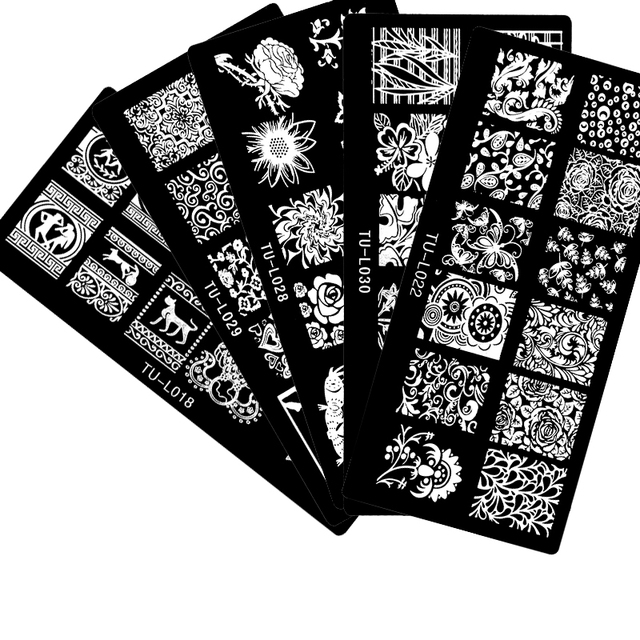 2017 New Arrivals 30PCS/LOT 6*12CM Nail Stamping Plates Konad Stamping Nail Art Manicure Template Nail Hot stamping plates