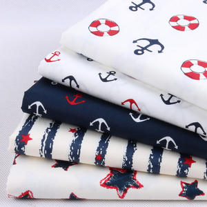 Navy-Series Sheet-Material Patchwork Cloth Sewing Cotton-Fabric Doll-Shirt Far-Quarters