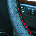 Car steering wheel cover leather steering wheel sleeve hand sewing direction four seasons Leather Steering wheel covers