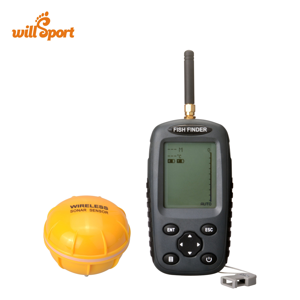 FF998 Upgraded Wireless Fish Finder Russian menu Rechargeable Waterpoof Fishfinder Sensor 125kHz Sonar Echo Sounder for Fishing optional extra wireless sonar sensor for fish finder items