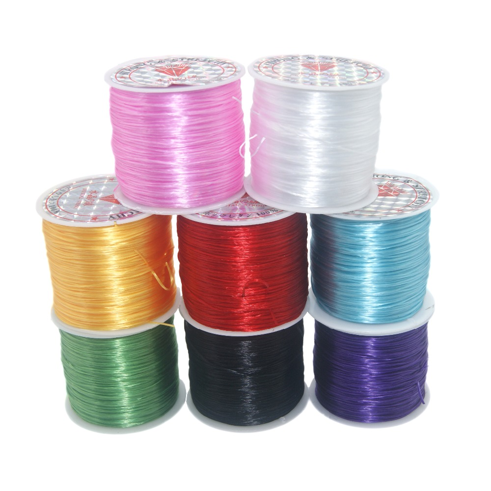 Wholesale 60M/Roll 0.5MM Colorful Stretchy Elastic Rope Cord Crystal String For Jewelry Making Beading Bracelet Wire Rope