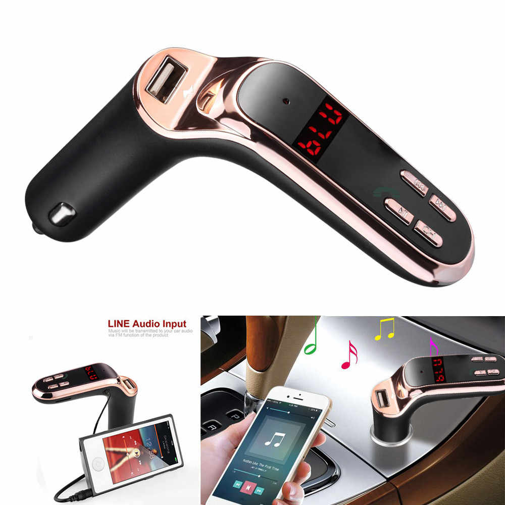 Bluetooth FM Transmitter MP3 Player Bluetooth Mobil Kit Handsfree FM Transmitter Radio MP3 Player Charger USB dan AUX Bluetooth Fm