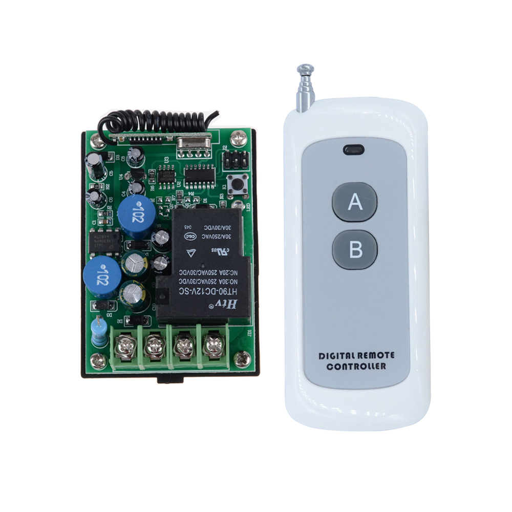 AC 220V 1CH 30A RF Wireless Remote Control Light Switch System Delay Time Multi-function Receiver Transmitter Smart Home 1 pcs full range multi function detectable rf lens detector wireless camera gps spy bug rf signal gsm device finder