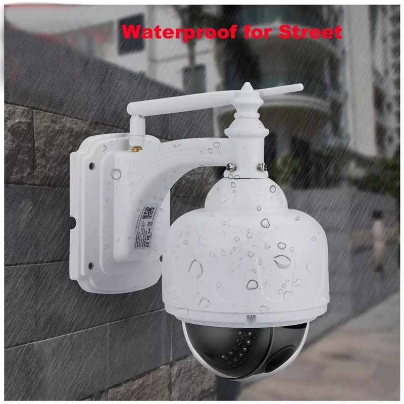 2.0MP 1080P Outdoor Waterdichte PTZ Camera 5X Optische Zoom IP Camera Two Way Audio Wifi Bewakingscamera Remote mobiele APP - 4