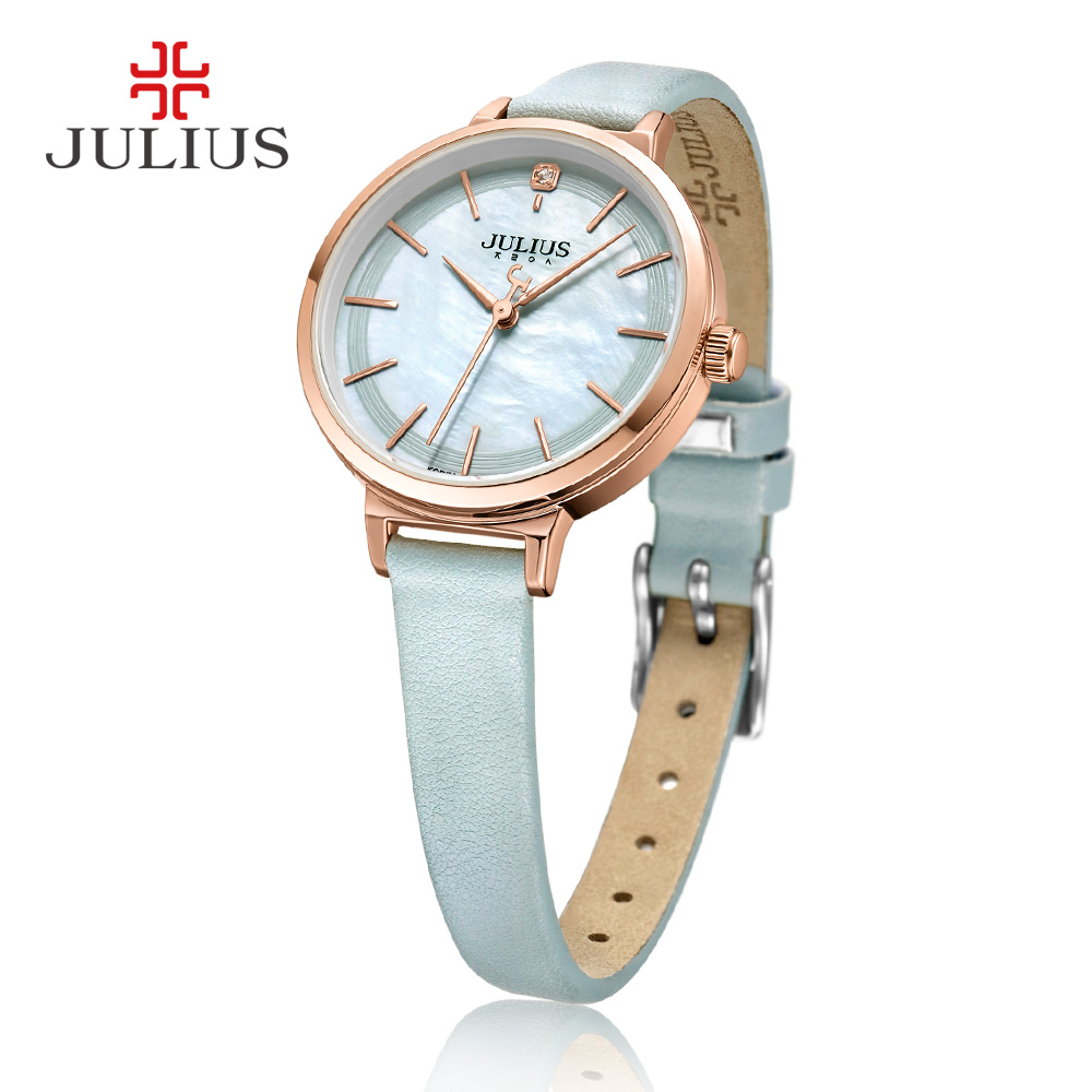 JULIUS Women Fashion Casual Watch Waterproof Luxury Brand Quartz Female Watches Gift Clock Ladies Dress Wristwatch Women Fresh julius luxury brand women watch fashion rose gold watches women fashion casual quartz ladies wristwatch reloj mujer clock female