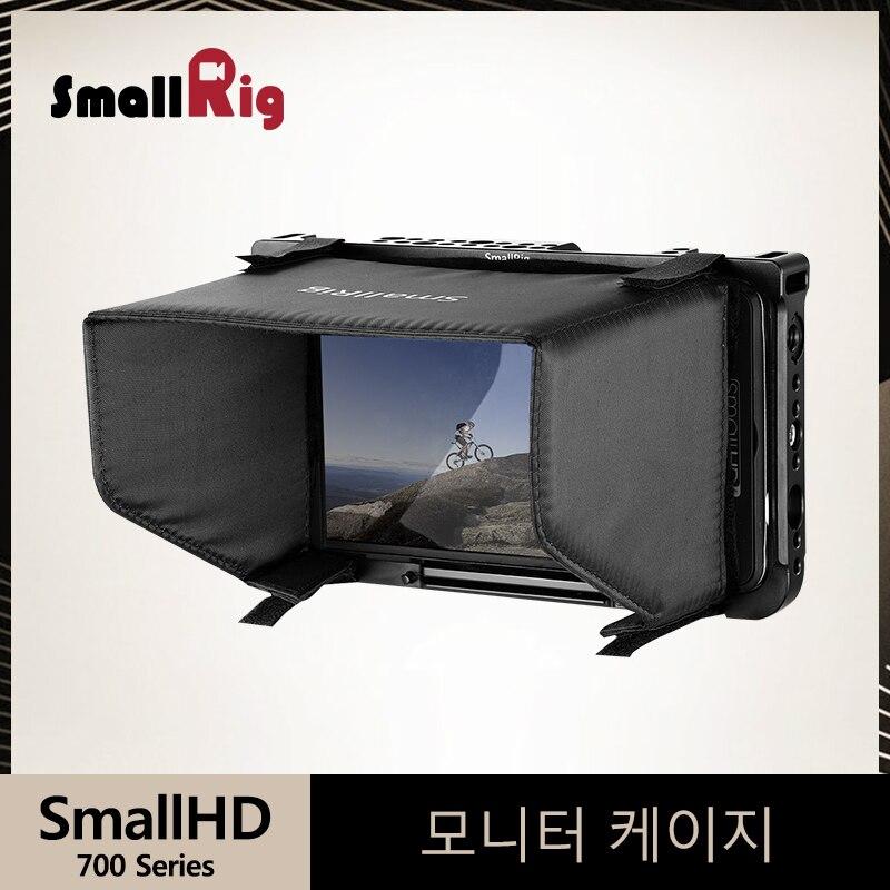 SmallRig Monitor Cage With Sun Hood For SmallHD 700 Series 701Lite/702 Lite/702 Bright Monitor Screen Cage+Sunhood Kit- 2131