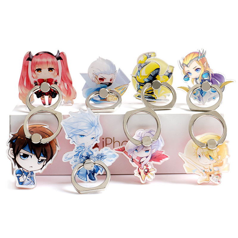 Stylish Cartoon Anime Two Yuan Mobile Phone Holder Mobile Phone Holder Convenient Multi-color Finger Grip Safety Bracket