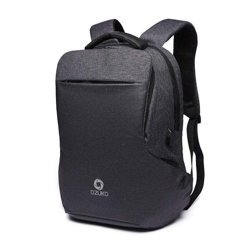 OZUKO nouveau sac à dos multifonctionnel hommes USB charge ordinateurs portables d'entreprise sac à dos de mode sac de voyage sacs d'école sac à dos sac à dos - 3