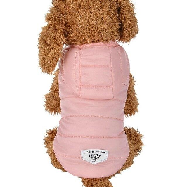 Chihuahua Inverno Caldo Pet Dog Coat Giacca Impermeabile Per Cani di Piccola Tag