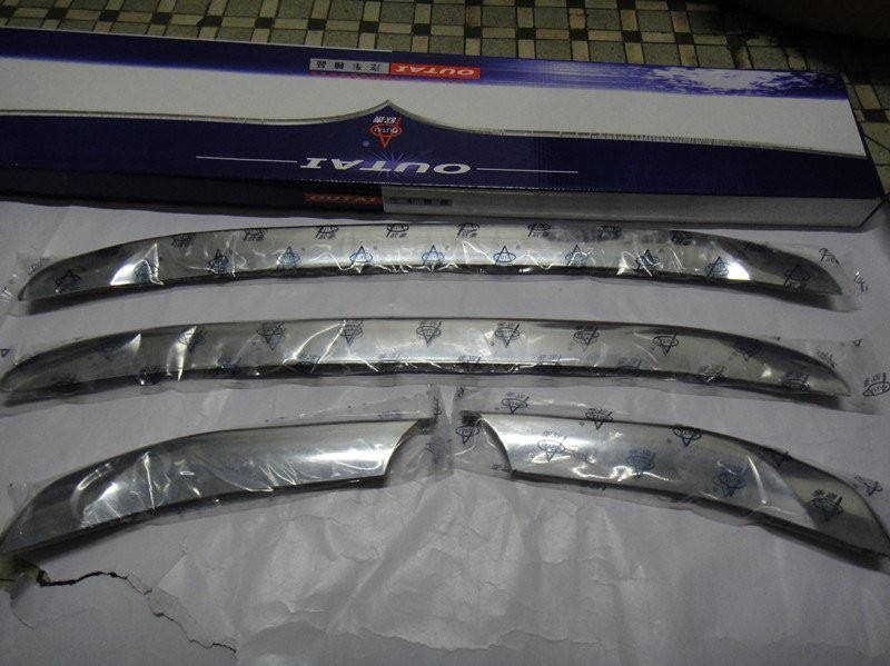 ABS Chrome Front Grille Around Trim Racing Grills Trim for 2010-2011 Hyundai Santa Fe Decorative protection abs chrome front grille around trim racing grills trim for 2010 2011 hyundai santa fe decorative protection