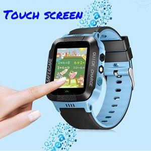 Image 3 - Tomu crianças relógio inteligente telefone y21s remoto da câmera tela de toque chamada sos anti lost lbs localização rastreador para crianças relógio de pulso seguro