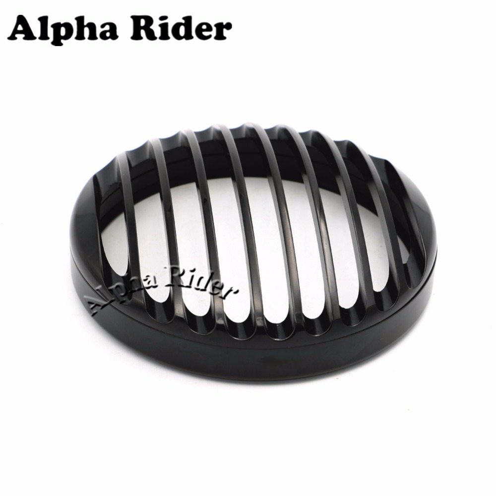 Black Anodized Headlight Grill Cover For Harley Sportster XL883 XL1200 2004 2005 2006 2007 2008 2009 2010 2011 2012 2013 2014 black headlight grill cover for harley sportster xl883 1200 04 up softail cover headlight covers 5 3 4