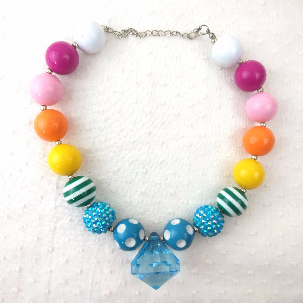 Handmade Kids Elegant Chunky Bubblegum Beaded Necklace