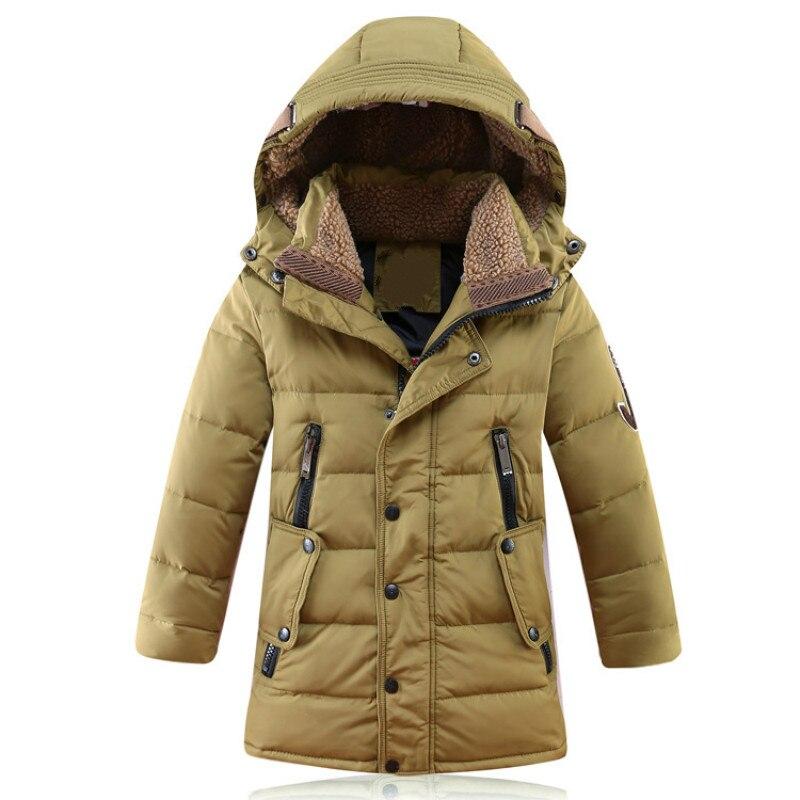 Russie hiver vestes pour enfants canard vers le bas manteaux enfants vêtements grands garçons chaud rembourré hiver vers le bas manteau thickeing vêtements d'extérieur