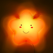 Children bedroom wall lamp lollipop stars creative cartoon wall lamps and lanterns of the baby room night light to bedside lamp