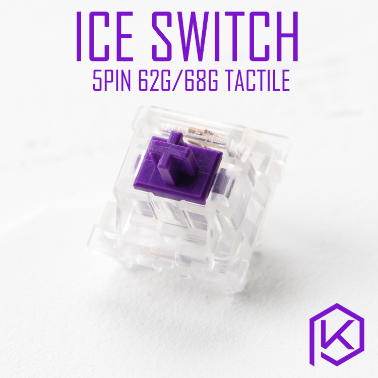 Otm Outemu 5pin Ice Purple 62g 68g Tactile Switch Forcustom Mechanical Keyboard Gh60 Xd64 Xd60 Eepw84 Gh60 Tada68 Rgb87 104 Zz96