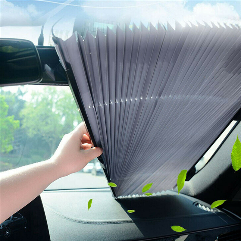 Image 3 - Car Retractable Front Window Sun Shade Visor Folding Automobiles Interior Sunproof Windshield Block Cover Protector Osculum Type-in Windshield Sunshades from Automobiles & Motorcycles