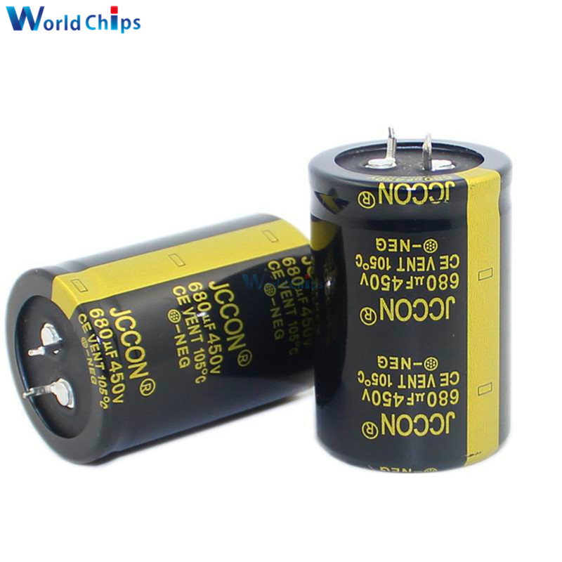 Aluminum Electrolytic Capacitor 450V 680uF 33X50mm High Frequency Low ESR 450V680uF 33*50mm Through Hole Capacitor Black Gold image