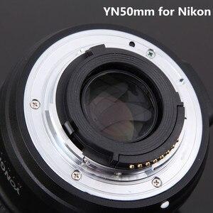 Image 4 - Объектив камеры YONGNUO YN50mm F1.8 для Nikon F Canon EOS с автофокусом с большой диафрагмой для DSLR камеры D800 D300 D700 D3200 D3300
