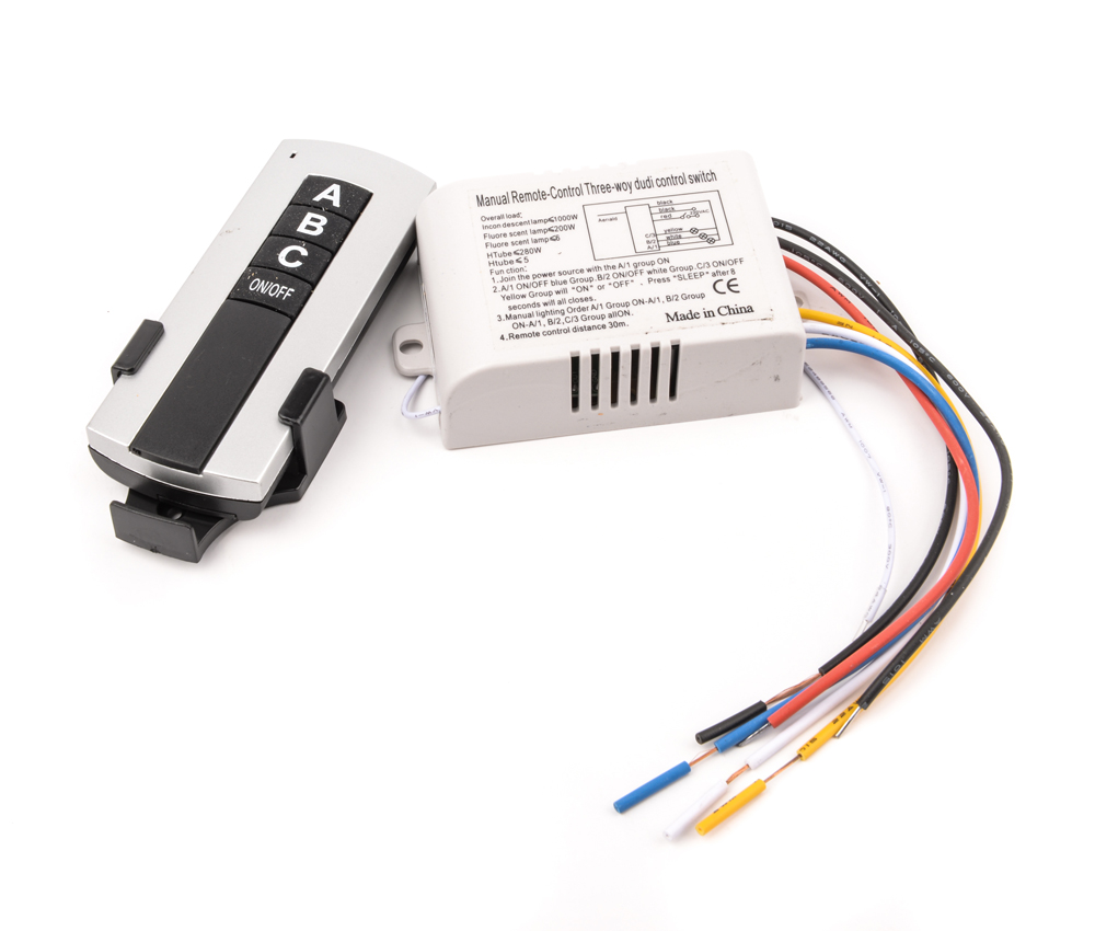 3 Channel Wireless Remote Control Switch Digital Remote
