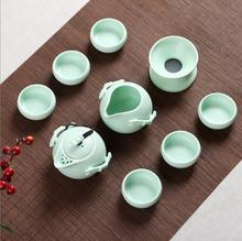 Elegant 10 pcs Ceramic Tea Sets Portable Kung Fu Tea Set Teacup