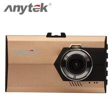 Coche DVR Anytek ultra-delgada de Aleación de Aluminio de 120 Grados de la Lente HD Cámara Del Coche de Grabación Cíclica Multilingüe Display 32G tacógrafo