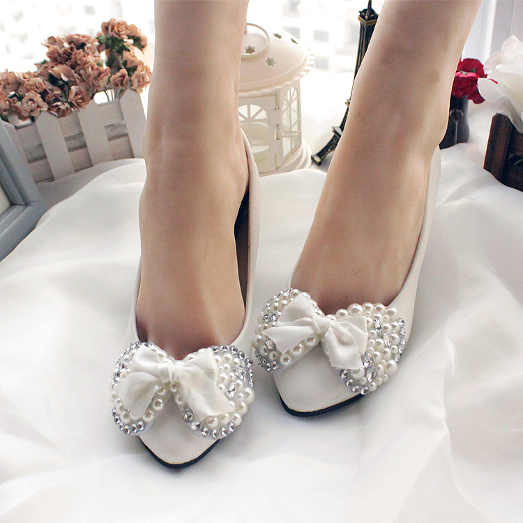 new wedding shoes white diy acrylic pearls