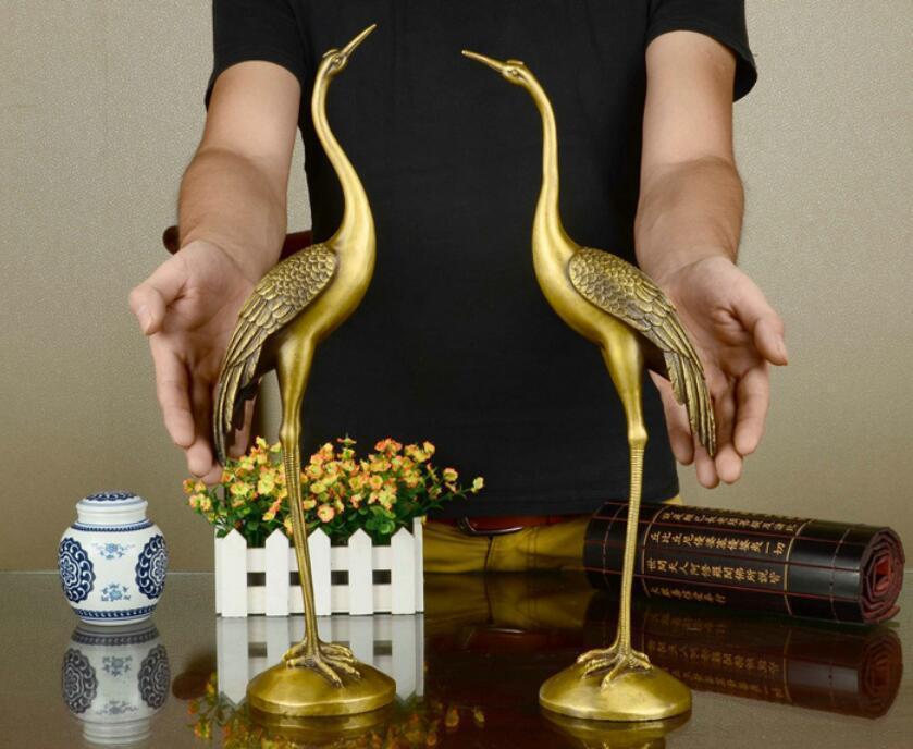 Daoist Brass Crane Pair 2