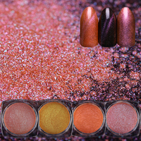 BORN PRETTY Chameleon Nail Glitter Powder 10 Boxes Cat Eye Magnet UV Gel Glitter Pigments DIY