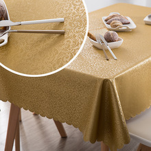 European luxury waterproof tablecloth PU fabric Anti-scalding oil-proof Party wedding table cloth dinning coffee mat
