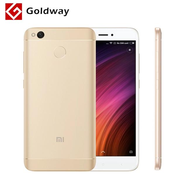 """Оригинальный Xiaomi Redmi 4x4x2 ГБ оперативной памяти 16 ГБ ROM мобильный телефон Snapdragon 435 Octa Core 5.0 """"2.5D экран отпечатков пальцев 13.0MP 4100 мАч"""