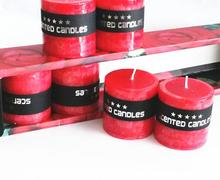 6pcs/pack Wedding candles velas home decor scented candles party holiday christmas candle red color