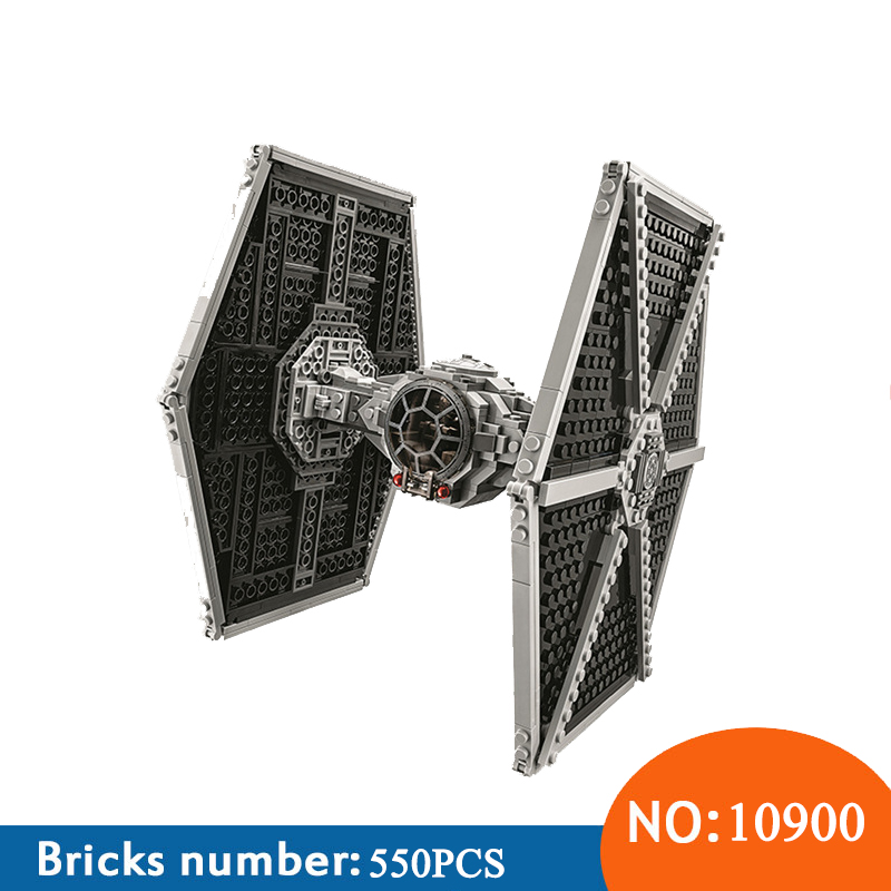 BELA 10900 Star Series Wars Imperial TIE Fighter Building Blocks Iconic Attack Craft Compatible with 75211 Toys For Children new 1685pcs lepin 05036 1685pcs star series tie building fighter educational blocks bricks toys compatible with 75095 wars