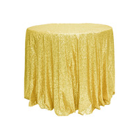 5pcs /Pack 72 Inch Blush champagne Round Sparkly Glitz Sequin Glamorous Tablecloth/Fabric For Event Reception Cake Table