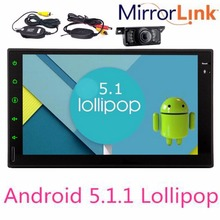 3G 4G Double 2 Din Android5.1.1 Lollipop 7″ Universal Car Radio Quad Core Head Unit Double din HD Car GPS Navigation+Rear Camera