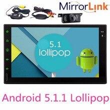 3G 4G Double 2 Din Android5.1.1 Lollipop 7″ Universal Car Radio Quad Core Head Unit Double din HD Car GPS Navigation+Rear Camera