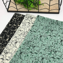 100% Polyester Pearl Chiffon Fabric Printing Quilting Textile Fabric DIY Sewing Chiffon Dress Comfortable Soft Woven Fabric textile creations 1336 rustic woven fabric small