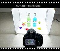 Простой светодиодный мини небольшая студия костюм шкатулка Мягкая Компактная камера фотография Light Box ювелирные изделия камеры съемки поле