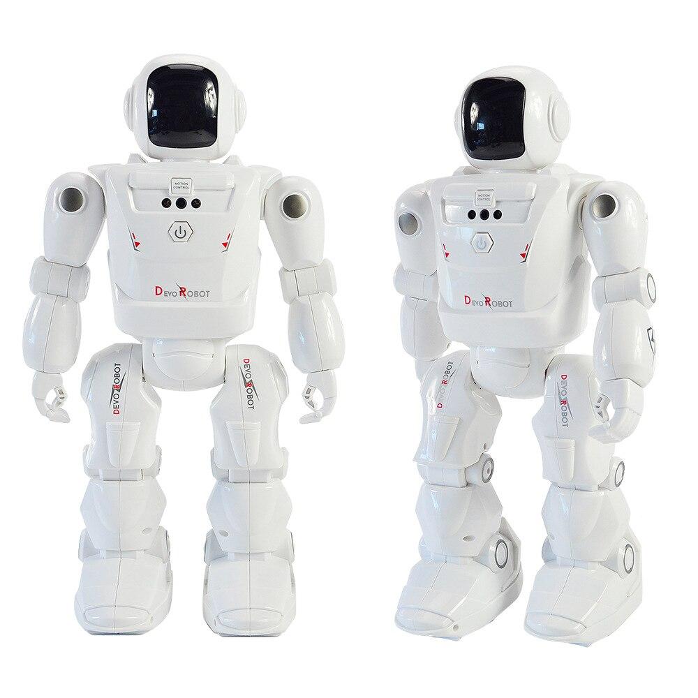 Robot jouets pour garçon RC capteur de geste intelligent Robot télécommande main Action Figure marche danse LED Expression du visage bébé cadeau