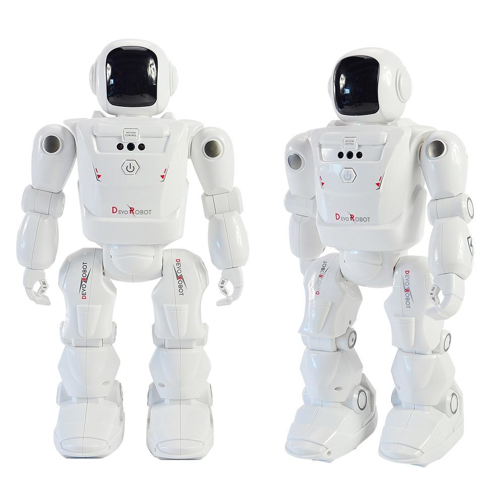 Robot Jouets pour Garçon RC Geste Capteur Intelligent Robotique Télécommande Main Action Figure Danse de Marche LED Expression Du Visage Bébé cadeau