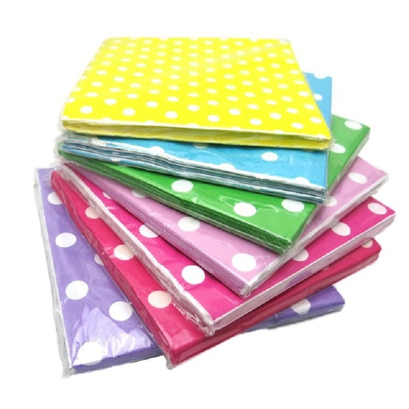40pcs/Lot 33cm*33cm Decorative Paper Napkins Wedding Graduation Party Decoration Minnie Mouse Party Supplies