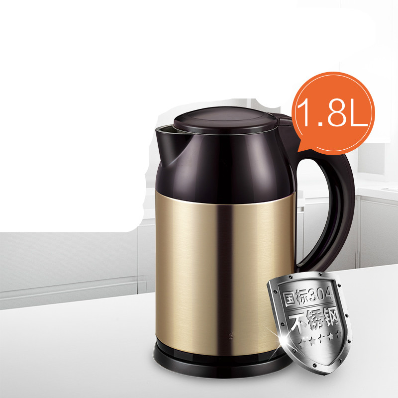 electric kettle has large capacity of 1.8 litres double stainless steel Anti-dry Protection electric kettle kettles use automatic power outage 1 7 litres anti dry protection