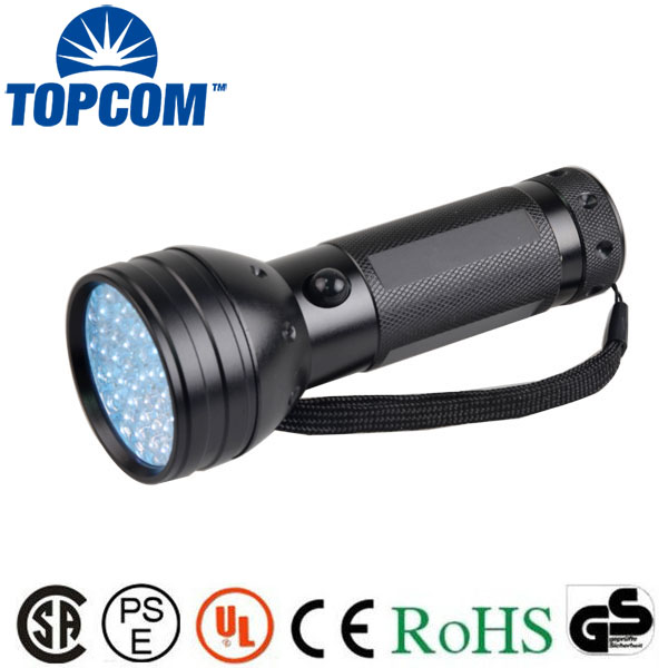 TOPCOM <font><b>51</b></font> UV Ultraviolet Flashlight 395 nM <font><b>LED</b></font> Handheld Blacklight Perfect Urine and Bed Bug Detector,<font><b>Scorpion</b></font> Hunting Light