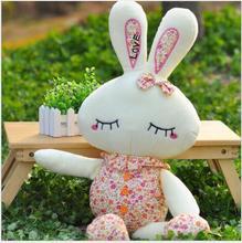 WYZHY Plush toy 1.2 m floral LOVE rabbit rag doll to send children girls creative birthday gift  40CM
