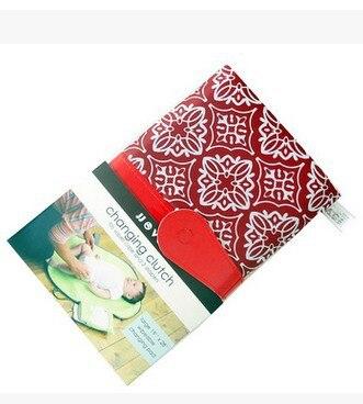 Пеленальный Коврик для ребенка, пеленка, портативный пеленальный столик для ребенка, текстиль для коляски, пеленки, коврик, складной, для автомобиля, для путешествий, сменная станция - Цвет: Красный