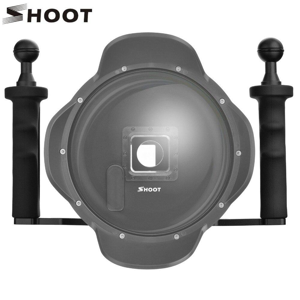 Stabilisateur portable en alliage d'aluminium pour Gopro hero 7/6/5/4 S/4/3/2/1 noir Xiaomi Yi 4 K Lite Sjcam Sj7 Eken H9 Go Pro hero 6